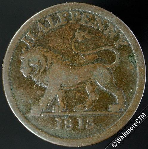 19th Century HalfPenny Walthamstow 610 1813 Lion / Britannia