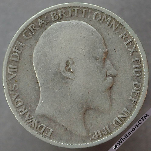 1910 British Sixpence Edward VII