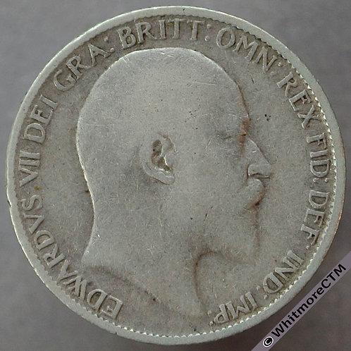 1910 British Sixpence Edward VII