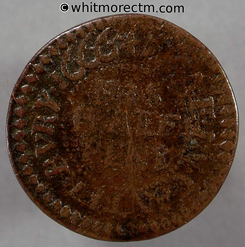 17th Century Token Canterbury 54 Tho Enfield in Mercery Grocers Arms 1666