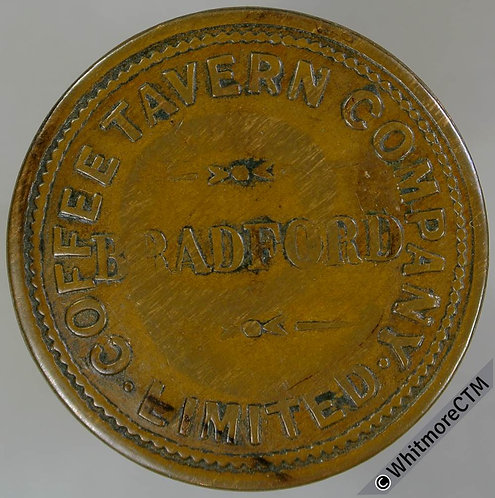 Refreshment Token Bradford Coffee Tavern Company Limited. Cmk'd with large 9