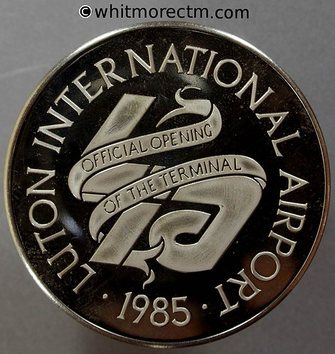 Luton 1985 Opening of Airport Terminal by Prince of Wales 44mm - Cupro-nickel