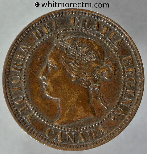 1900 ( No H ) Canada One Cent - Victoria