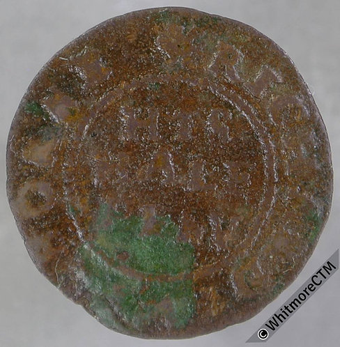 17th Century Token Witham 352 1668 Richard Swinborne His Half Peny A Hart Lodged