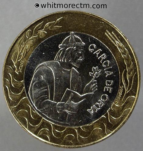 1988 Portugal 200 Escudos Garcia De Orta KM# 655