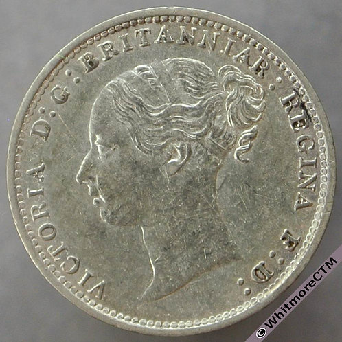 1887 Victoria Young Head threepence 3d