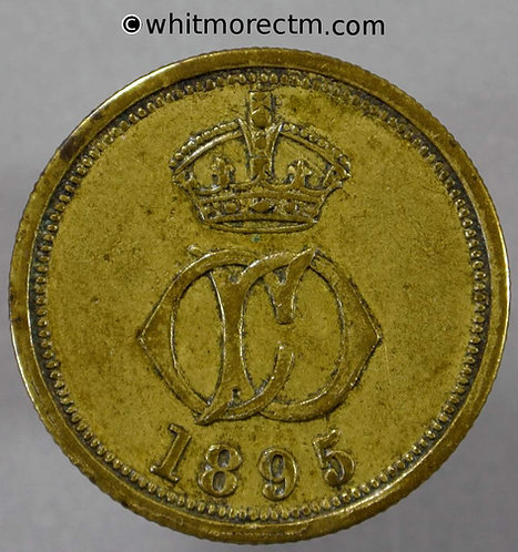 Armed Forces Token 25mm Crowned C D (Dragoons) 1895 4D - obv