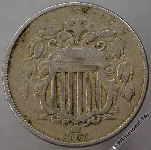1867 USA Five Cents - without rays