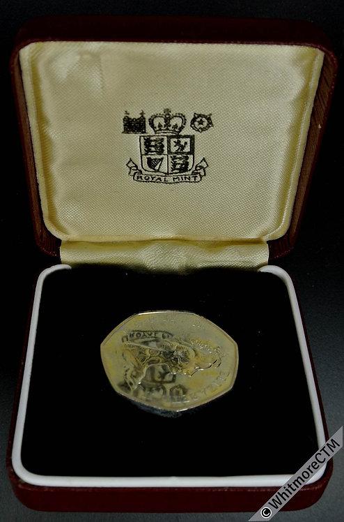 British Decimal 50p 1973 E.E.C. Cased proof