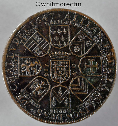France Jetton 32mm 1647 Nevers Stone Challudet. Very rare.  Bronze