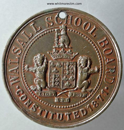Walsall School Board For regular attendance Medal 45mm Not in Dry. Bronze