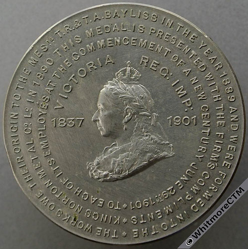 1901 Kings Norton Metal Co. Ltd Medal 45mm celebrate the new century Cupronickel