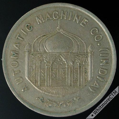India Token 24mm Automatic Machine Co 25 - India Burma & Ceylon. Cupro nickel.
