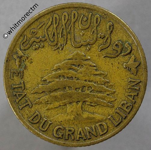 1925 Lebanon 5 Piastres Y4 obv