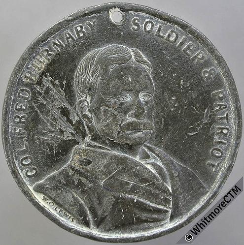 1884 Colonel Frederick Burnaby Lord Randolph Churchill Medal 39mm B3161 V Rare