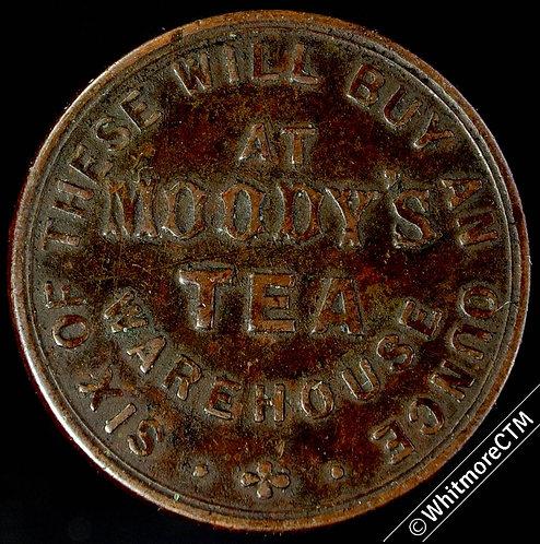 Bonus Token Moody's Tea Warehouse 27mm Six of these 1852