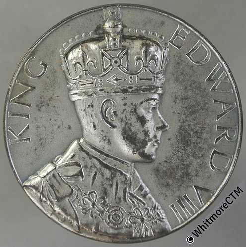 1936 Abdication of Edward VIII Medal 35mm B4277 Unrecorded in silvered bronze