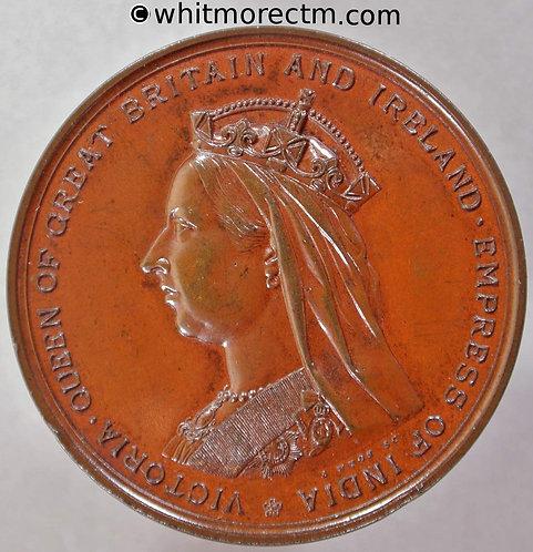 1887 Golden Jubilee Queen Victoria Medal 38mm B3291 A.Wyon - Bronze