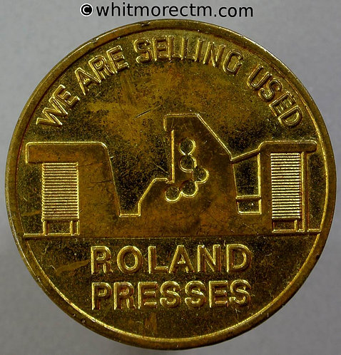 1969 Germany Italy Selling used Rolland Presses Medal 36mm Gilt bronze