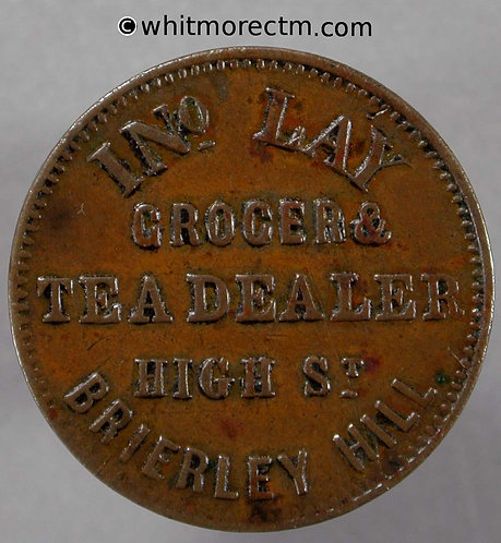 Unofficial Farthing Brierley Hill 1190 Ino Lay Grocer & Tea Dealer. High Street