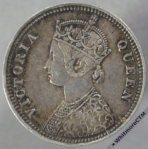 1862C India Quarter Rupee S&W 4.130 obv