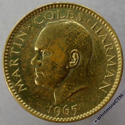 1965 Lundy Half Puffin Y1 - Nickel-brass proof