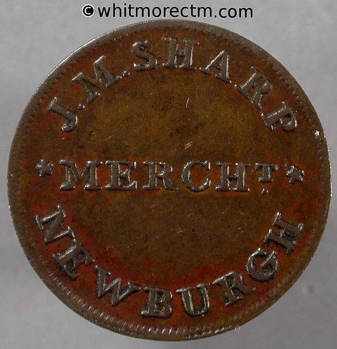 Unofficial Farthing Newburgh 7523 J.M.Sharp Tobacco & Snuff - Very Rare