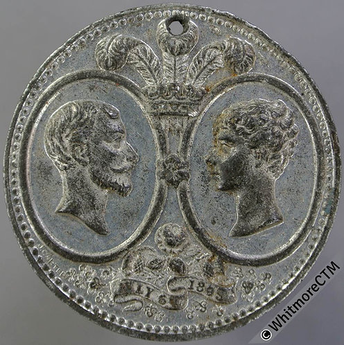 1893 Marriage of Duke of York & Princess Mary Medal 38mm B3441 White Metal