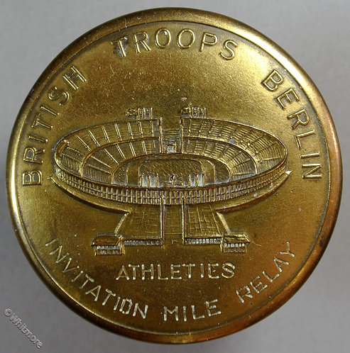 1948 British Troops Berlin Invitation Mile relay Winners Medal 50mm