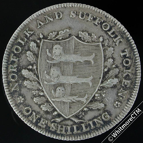19th Century Shilling Token Yarmouth 15 1811 J.Huntons Arms of town / county