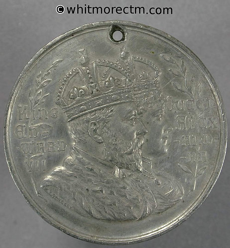 1902 Cardiff Coronation Medal obv Edward VII 38mm WE419Oc