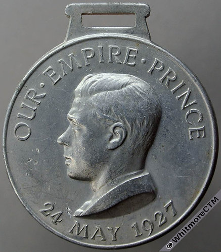 1927 Edward VIII as Prince of Wales Medal 38mm Our Empire Prince WE6221A