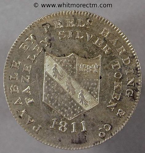 19th Century Silver Shilling Fazeley 11 1811 Peels Harding & Co - obv