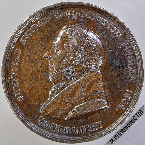 Sheffield 1862 Sunday School Union Jubilee Medal 38mm Not in Brown - Bronze.