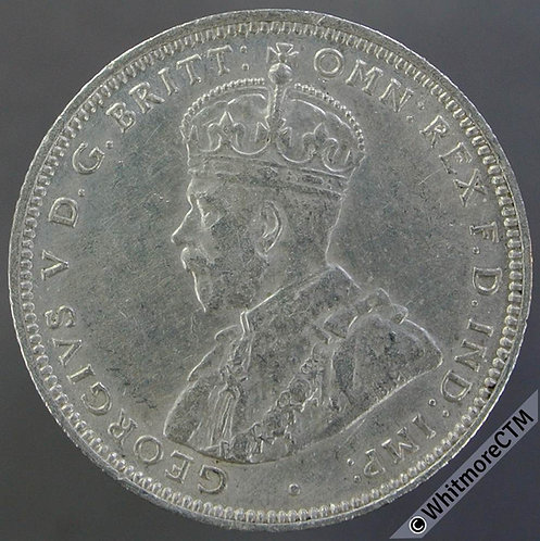 1913 British West Africa Shilling Y16 Silver 1913H