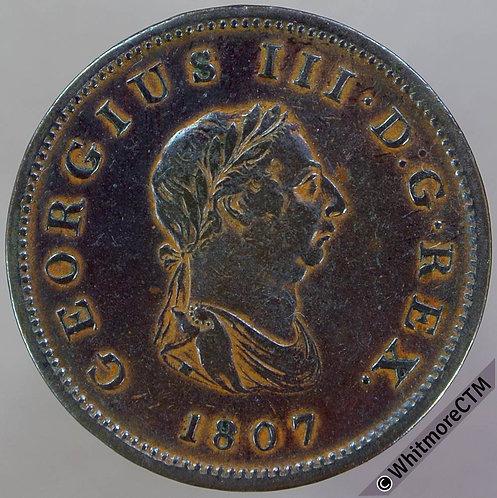 1807 George III Copper Half-Penny