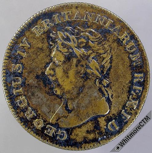 1821 George IV Coronation Medal 25mm B1109 Brass
