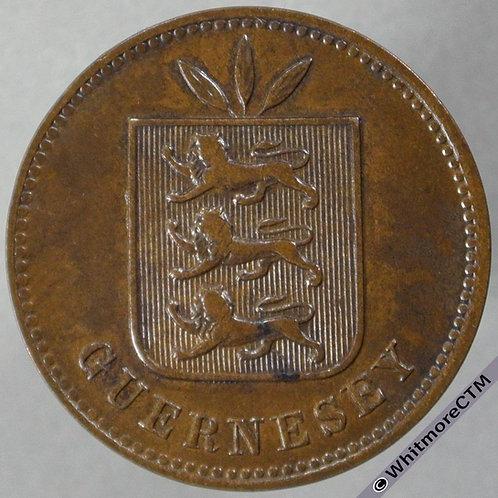 1902 Guernsey 4 Doubles E58 obv