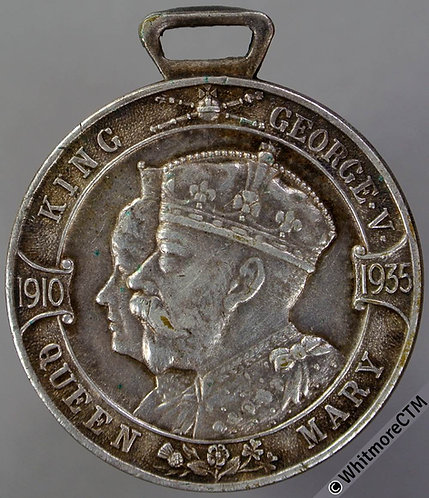 1935 Daily Mail Jubilee of King George V Medal 33mm WE5700 Silvered brass