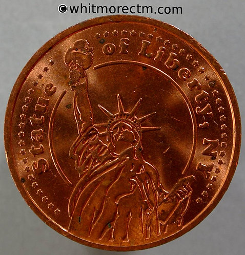 """USA Statue of Liberty Medallion 30mm Same thickness copper as on Statue 3/32"""""""