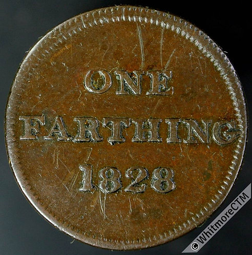 Unofficial Farthing Token Glasgow 7370 1828 Retailers token / Value
