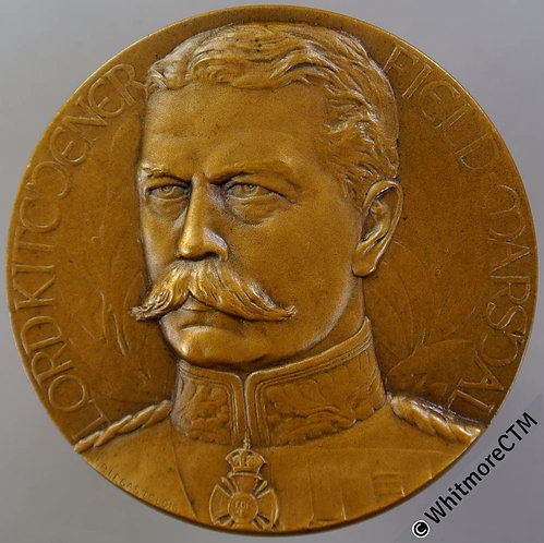 1916 Field Marshal Lord Kitchener Medal 45mm B4120 By J.P.Legastelois - Bronze