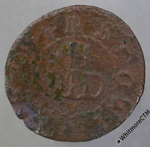 17th Century Token Winslow (Bucks) 145 Mathew Bishop 3 Boar's heads 1666