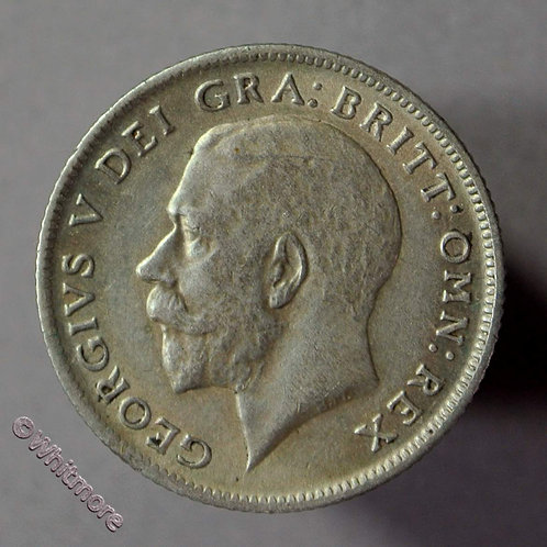 1921 British Sixpence George V