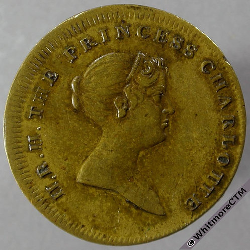 1817 Death of Princess Charlotte obv Medallion 26mm Brass B944
