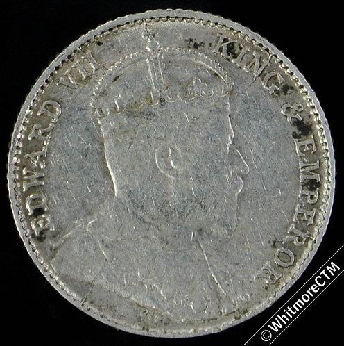 1910 Straits Settlements 5 Cent Y20