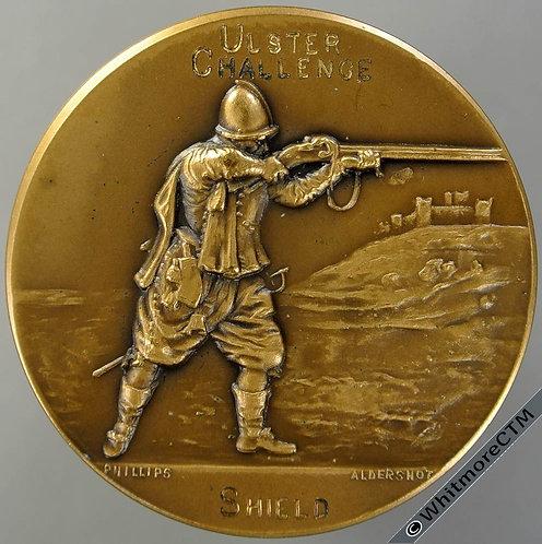 Ulster Rifle Association Challenge Shield Medal 38mm Bronze