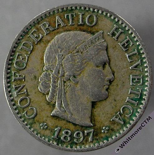 1897 Switzerland 5 Centimes Y23 obv