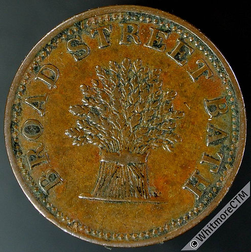 Unofficial Farthing Token Bath 180 The Wheat Sheaf Broad St. Copper