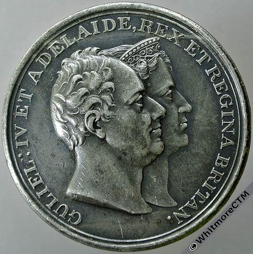 1831 William IV & Adelaide Coronation Medal 45mm B1479 W.M. Rare